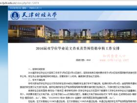 天津财经大学本科毕业论文检测要求:知网论文查重系统的检测结果为20%内为通过